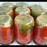Маринованные помидоры половинками