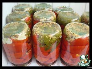Marinated tomatoes halves
