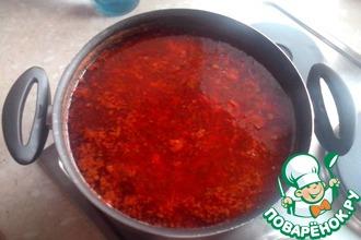 Рецепт: Борщ вегетарианский по-кузнецовски