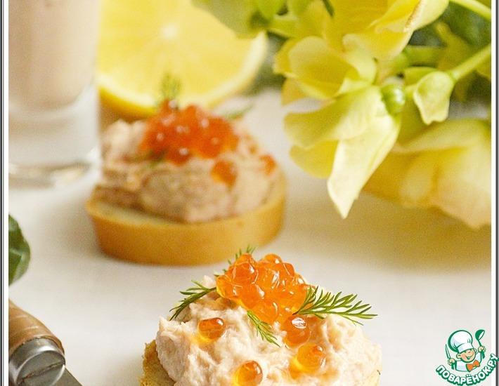 Рецепт: Рыбный паштет с креветками и икрой