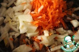 Add onion, carrot, fry until transparent onion