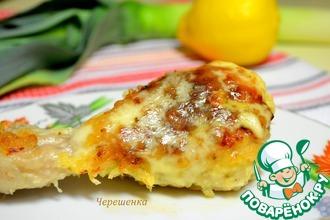 Рецепт: Куриные голени в хлебной панировке с сырами