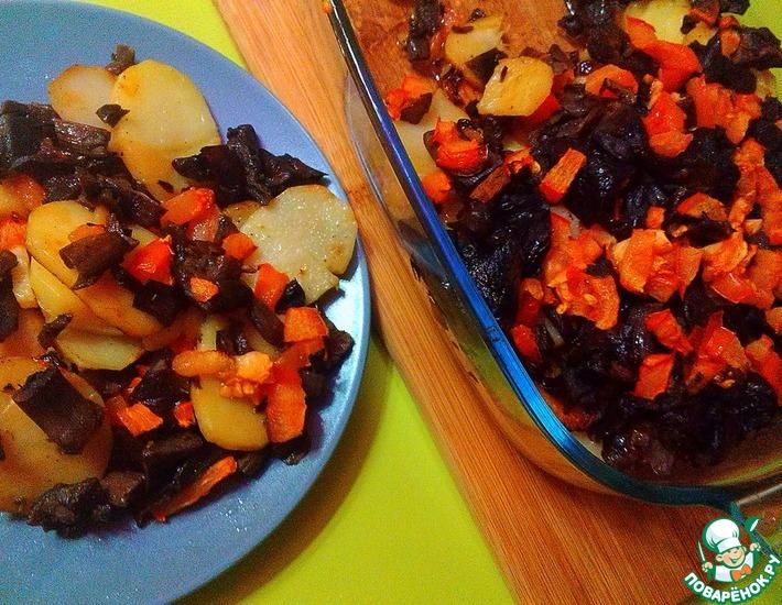 Рецепт: Картофель, запеченный с грибами