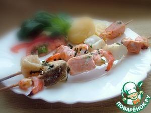 "Шашлык из даров моря ""Аквариум"" – кулинарный рецепт"