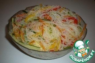 Рецепт: Салат Лапша с овощами