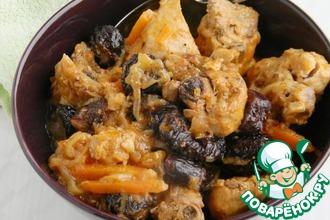 Рецепт: Сладко-острая курица с черносливом