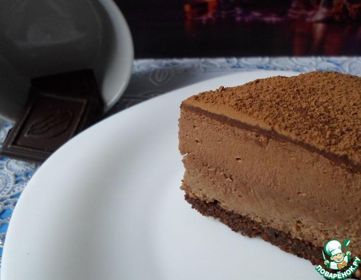 Рецепт: Шоколадный чизкейк a la Godiva