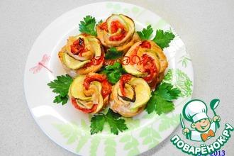 Рецепт: Горячее блюдо Куриные розочки