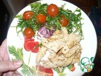 Индейка со сливками с легким салатом ингредиенты