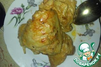 Рецепт: Куриные бедрышки в томатно-майонезном соусе