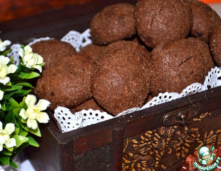 Шоколадное печенье в аэрогриле