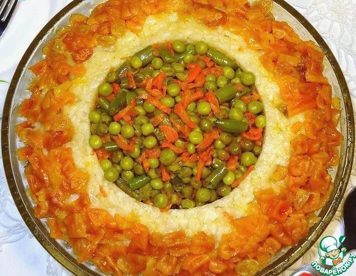 Рецепт: Теплый салат Золотое кольцо
