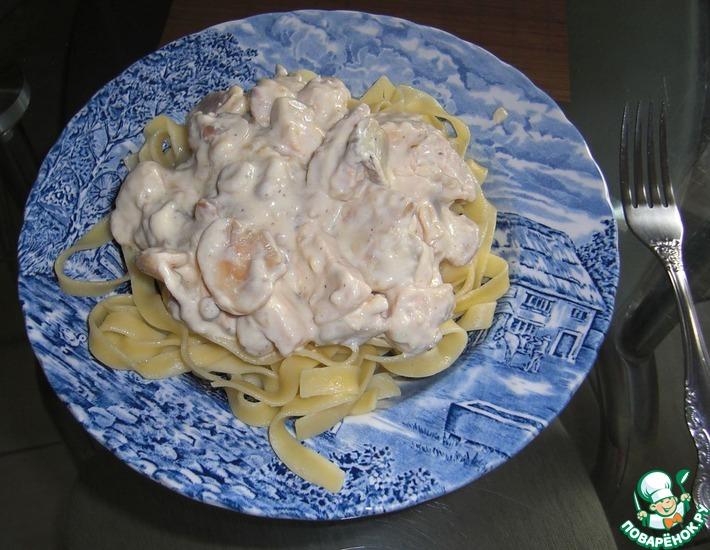 Рецепт: Курочка с грибами Нежнее нежного