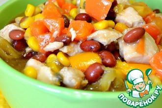 Рецепт: Рагу с курицей и овощами в мультиварке