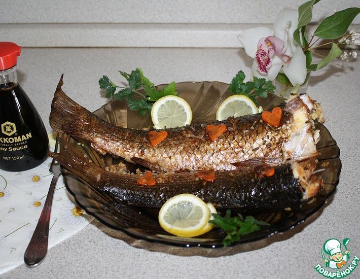Рецепт: Пеленгас, фаршированный булгуром