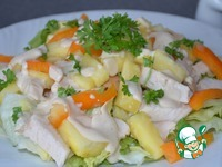Курино-ананасовый салат ингредиенты