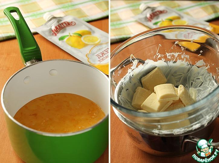 Тарталетки с лимонным джемом и швейцарской меренгой
