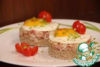Рецепт: Бутерброды с беконом и яйцом