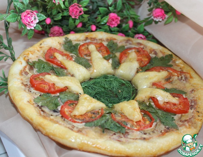 Рецепт: Пицца Солнечная