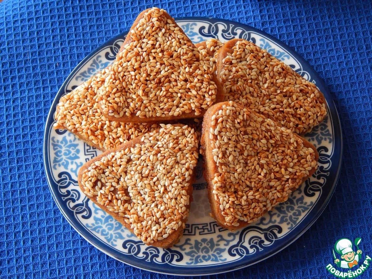 """Печенье из толокна в кунжутной глазури """"Будь здоров!"""""""