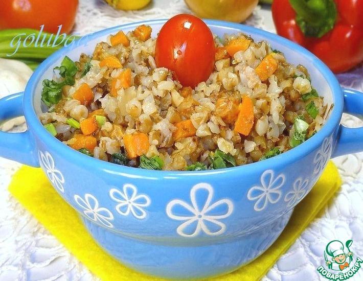 Рецепт: Каша гречневая с овощами и изюмом