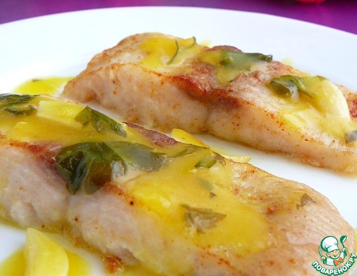 Рецепт: Рыба под апельсиновым соусом