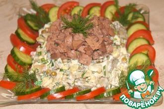 Рецепт: Салат с печенью трески