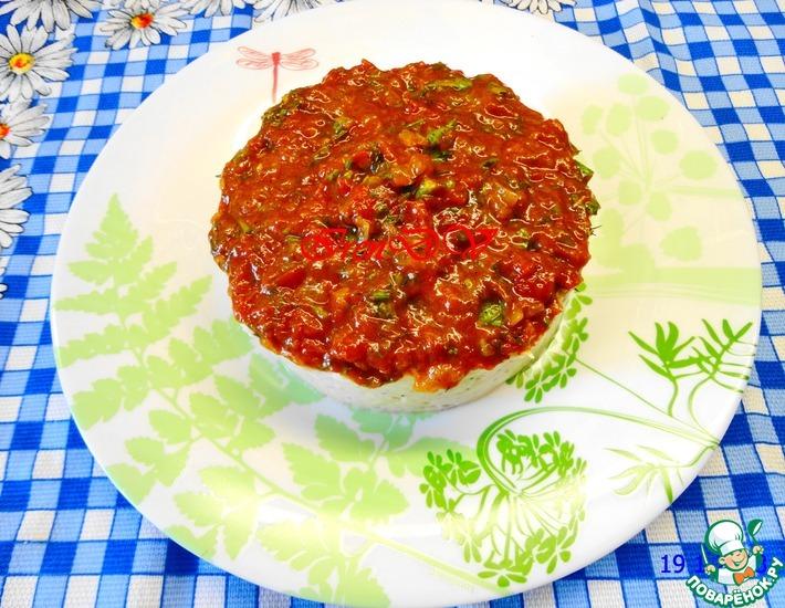 Рецепт: Паштет из белой фасоли с томатным соусом