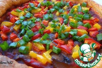 Рецепт: Постная пицца на рассоле