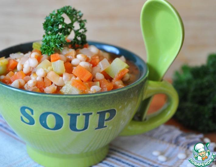 Рецепт: Постный айнтопф с фасолью