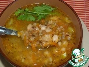 Рецепт: Тосканский суп из смеси бобовых в мультиварке