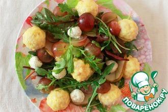 Рецепт: Салат с тёплыми куриными фрикадельками