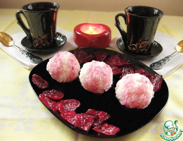 Рецепт: Рисовые шарики с вишней