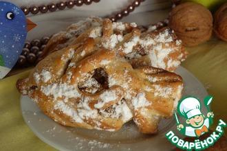 Рецепт: Печенье с яблоком, грецким орехом и корицей