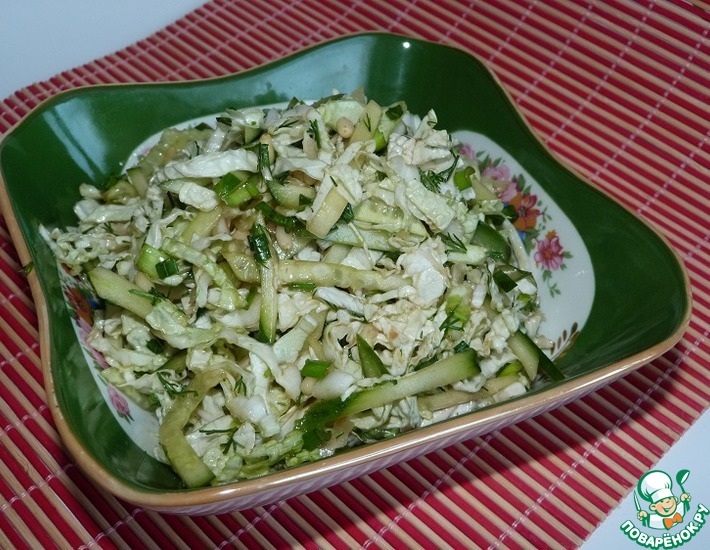 Рецепт: Салат из пекинской капусты с огурцом