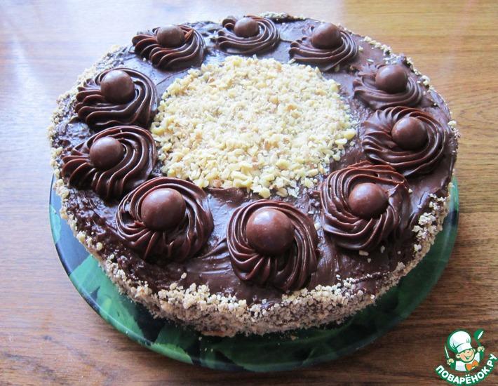 Рецепт: Шоколадно-ореховый торт Деметра