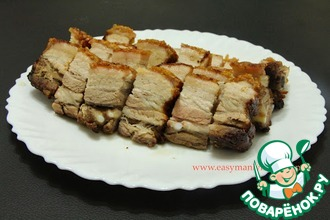 Рецепт: Запеченная свинина с хрустящей корочкой