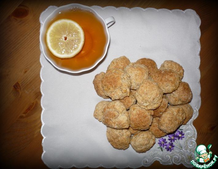 Рецепт: Овсяное печенье с карамелью