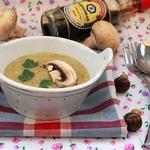 Суп-пюре с белыми грибами и соевым соусом