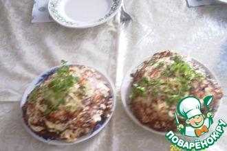 Рецепт: Капустно-кабачковый торт