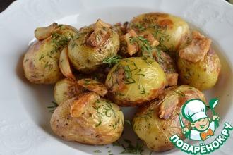Рецепт: Молодой картофель с салом в мультиварке