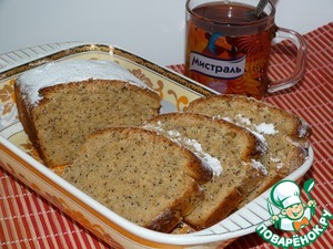 Lenten cake with poppy seeds