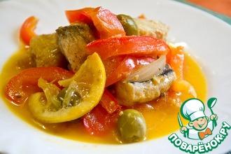 Рецепт: Тунисская рыбная солянка Кабкабу