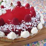 Постный тарт с малиновым желе