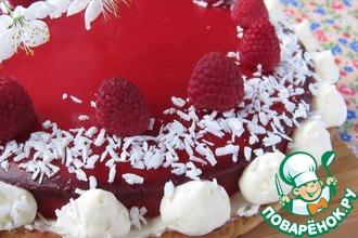 Рецепт: Постный тарт с малиновым желе