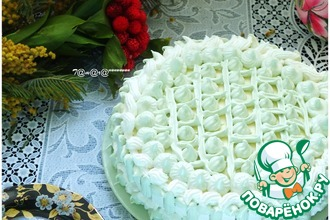 Рецепт: Торт Восхитительное создание к 8 Марта