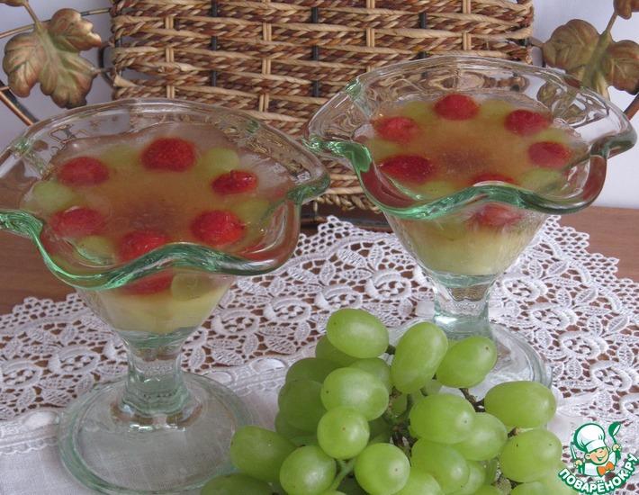 Рецепт: Яблоки в желе с джемом