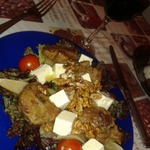 Теплый салат с куриной печенью Наслаждение