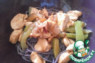 Рецепт: Курица в арахисовом масле в азиатском стиле