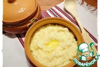 Рецепт: Рисово-пшенная каша с квашеной капустой